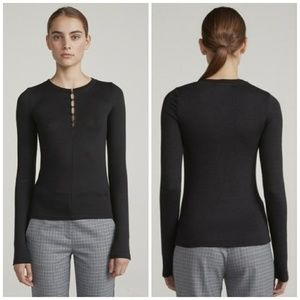 Rag & Bone | Bowery Black Button up Sweater